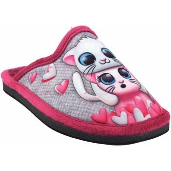 Zapatos Niña Pantuflas Gema Garcia Ir por casa niña  2300-1 fuxia Gris