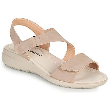 Zapatos Mujer Sandalias Damart 67808 Beige / Rosa