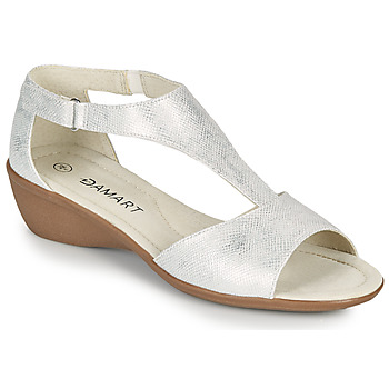 Zapatos Mujer Sandalias Damart 49019 Plata