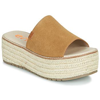 Zapatos Mujer Zuecos (Mules) Emmshu NELIE Cognac