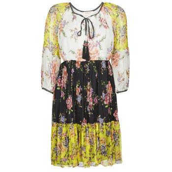 textil Mujer Vestidos cortos Derhy SARDAIGNE Negro / Blanco / Amarillo