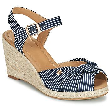 Zapatos Mujer Sandalias Esprit ELIN Azul / Blanco