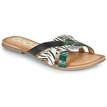 Zapatos Mujer Zuecos (Mules) Gioseppo STILES Negro / Blanco