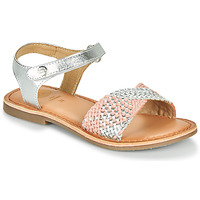 Zapatos Niña Sandalias Gioseppo QUINCY Plata / Rosa