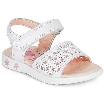Zapatos Niña Sandalias Pablosky DROSSI Blanco / Rosa