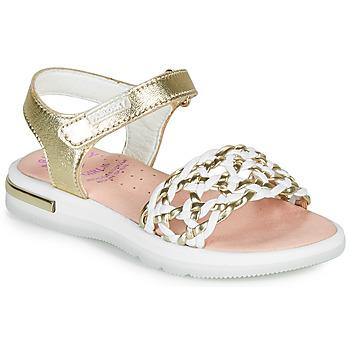 Zapatos Niña Sandalias Pablosky DANIE Oro / Blanco