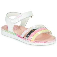 Zapatos Niña Sandalias Pablosky MOUNNA Blanco / Rosa