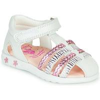 Zapatos Niña Sandalias Pablosky ELLA Blanco / Rosa