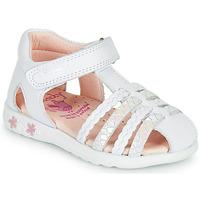 Zapatos Niña Sandalias Pablosky TONNI Blanco / Rosa
