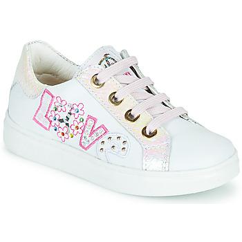 Zapatos Niña Zapatillas bajas Pablosky AMME Blanco / Rosa