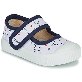 Zapatos Niños Bailarinas-manoletinas Citrouille et Compagnie MY LOVELY BABIES Blanco / Estampado