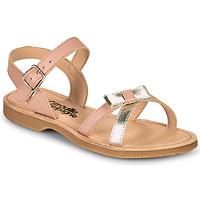 Zapatos Niña Sandalias Citrouille et Compagnie JISCOTTE Rosa / Plateado
