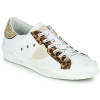 Zapatos Mujer Zapatillas bajas Philippe Model PARIS Blanco / Leopardo