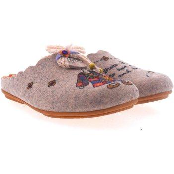 Zapatos Mujer Pantuflas Marpen Zapatillas de Casa  Hippie Rosa