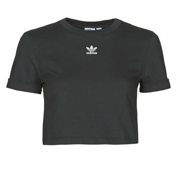 textil Mujer Camisetas manga corta adidas Originals CROP TOP Negro