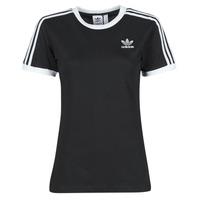 textil Mujer Camisetas manga corta adidas Originals 3 STRIPES TEE Negro