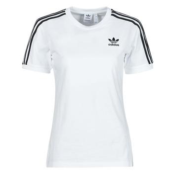 textil Mujer Camisetas manga corta adidas Originals 3 STRIPES TEE Blanco