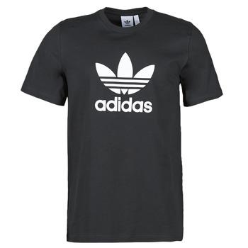 textil Hombre Camisetas manga corta adidas Originals TREFOIL T-SHIRT Negro