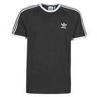 textil Hombre Camisetas manga corta adidas Originals 3-STRIPES TEE Negro