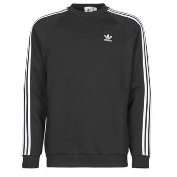 textil Hombre Sudaderas adidas Originals 3-STRIPES CREW Negro