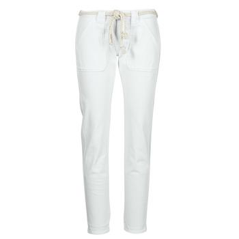 textil Mujer Pantalones con 5 bolsillos Le Temps des Cerises EZRA Blanco