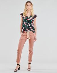 textil Mujer Pantalones con 5 bolsillos Le Temps des Cerises EZRA Marrón