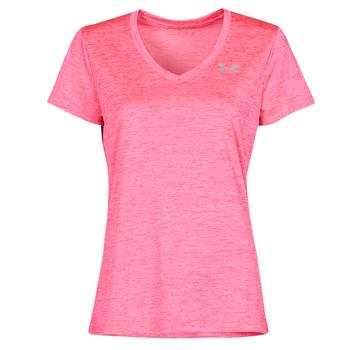 textil Mujer Camisetas manga corta Under Armour TECH SSV Rosa