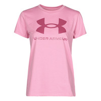 textil Mujer Camisetas manga corta Under Armour LIVE SPORTSTYLE GRAPHIC SSC Rosa