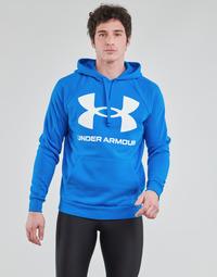 textil Hombre Sudaderas Under Armour UA RIVAL FLEECE BIG LOGO HD Azul