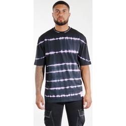 textil Hombre Tops y Camisetas Sixth June T-shirt  Tie & Dye noir/violet