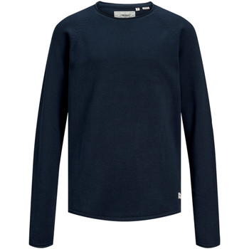 textil Niño Jerséis Jack & Jones 12155468 PKTHNN SIDE CREW NECK KNIT JUNIOR NAVY BLAZER Azul marino