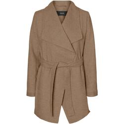 textil Mujer Abrigos Vero Moda 10235313 VMCALASISSEL 3/4 JACKET COL SEPIA TINT Marrón