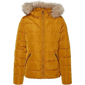textil Mujer Parkas Vero Moda 10235389 VMMOLLIE SHORT JACKET BOOS BUCKTHRON BROWN Marrón