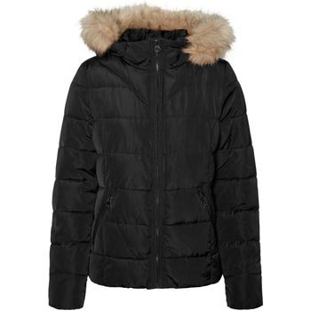 textil Mujer Parkas Vero Moda 10235389 VMMOLLIE SHORT JACKET BOOS BLACK Negro