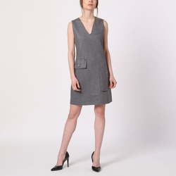 textil Mujer Vestidos cortos Âme 7030 GRIS