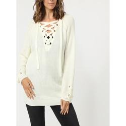 textil Mujer Jerséis Âme 75373 BLANCO