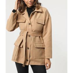 textil Mujer Abrigos Sense 8183-1 MARRON