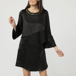 textil Mujer Vestidos cortos Anany AN-070202 NEGRO