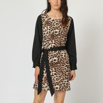 textil Mujer Vestidos cortos Anany AN-160531 MARRON