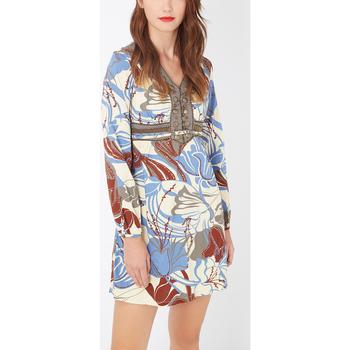 textil Mujer Vestidos cortos Anany AN-L2699 AZUL