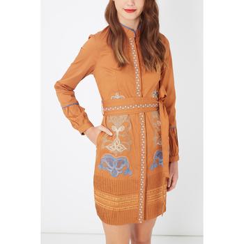 textil Mujer Vestidos cortos Anany D709 MARRON