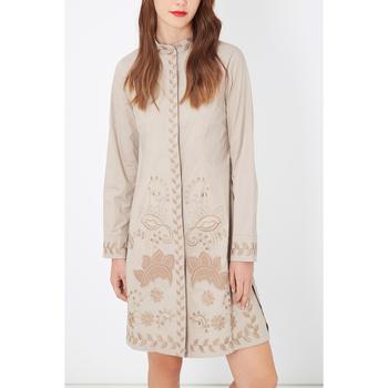 textil Mujer Vestidos cortos Anany D7605 BEIGE