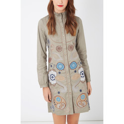 textil Mujer Vestidos cortos Anany D7691 BEIGE