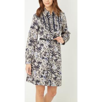 textil Mujer Vestidos cortos Anany D7754 AZUL