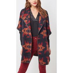 textil Mujer Abrigos Love&money H10181 NEGRO