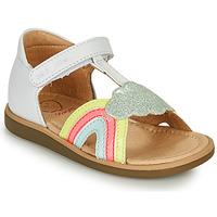 Zapatos Niña Sandalias Shoo Pom TITY RAINBOW Blanco