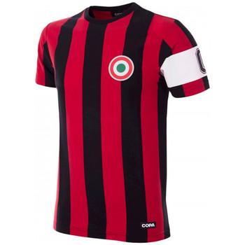 textil Camisetas manga corta Copa Milan Capitano T-Shirt Black;Red