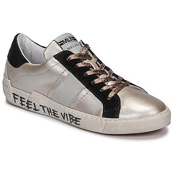 Zapatos Mujer Zapatillas bajas Meline NK1382 Bronce / Negro