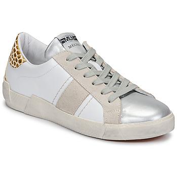 Zapatos Mujer Zapatillas bajas Meline NK1381 Blanco / Beige