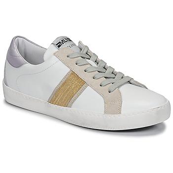 Zapatos Mujer Zapatillas bajas Meline KUC1414 Blanco / Oro